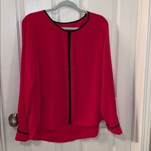 Calvin Klein Pleat Front Blouse | XL
